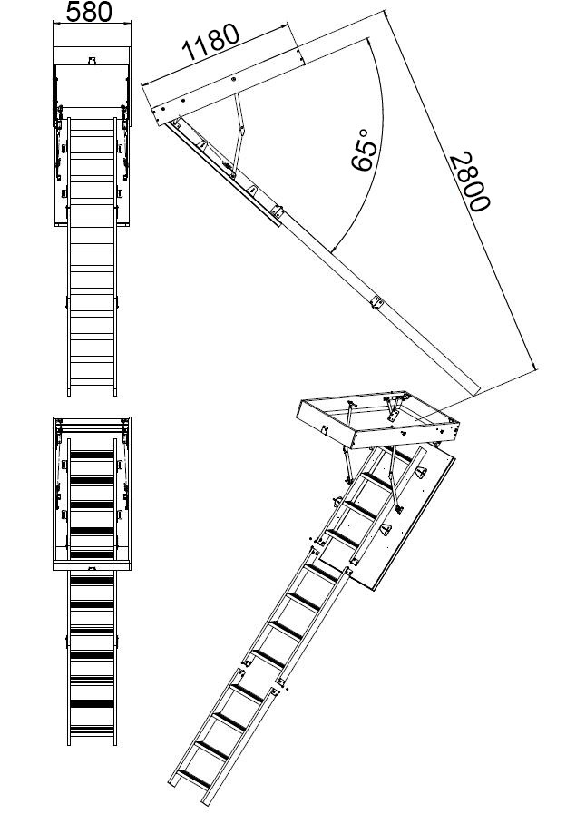 Лестница для чердака складная своими руками